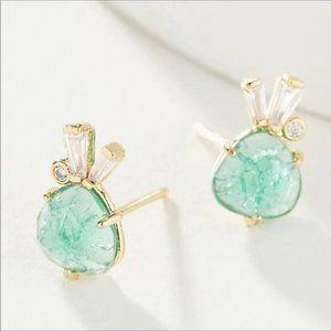 NWT Anthropologie Crystal Stud Earrings